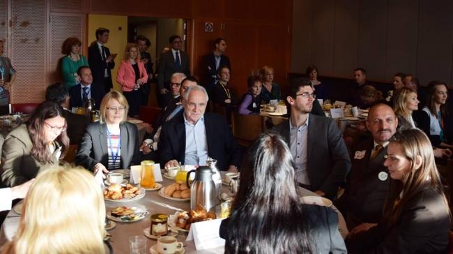 Almorzo con mel Parlamento Europeo
