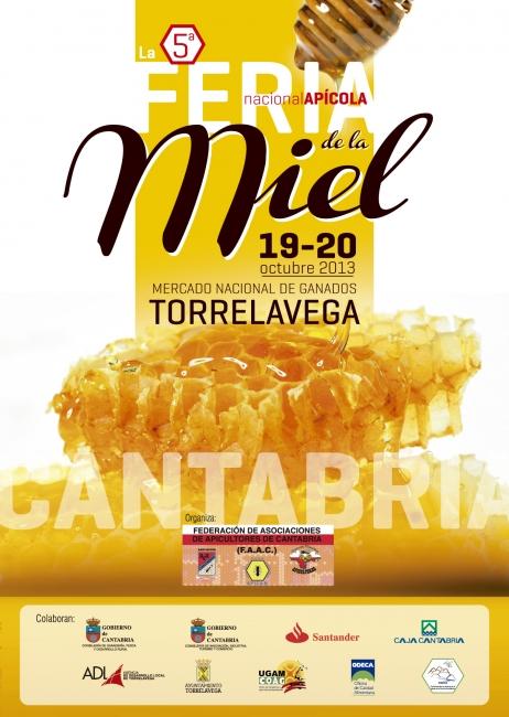 Cartel V Feria Apícola de Cantabria 2013