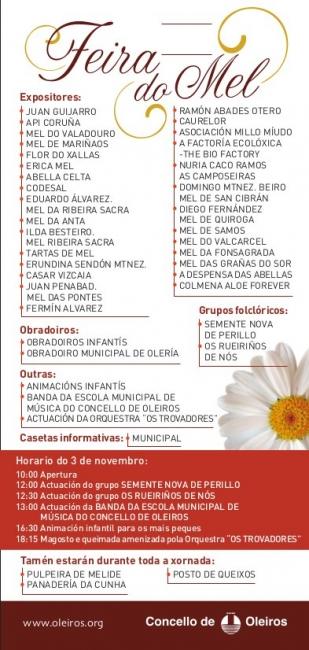 Programa Feira Mel Oleiros 2013